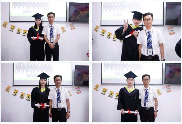 王广南老师为大家拨穗正冠、颁发毕业证