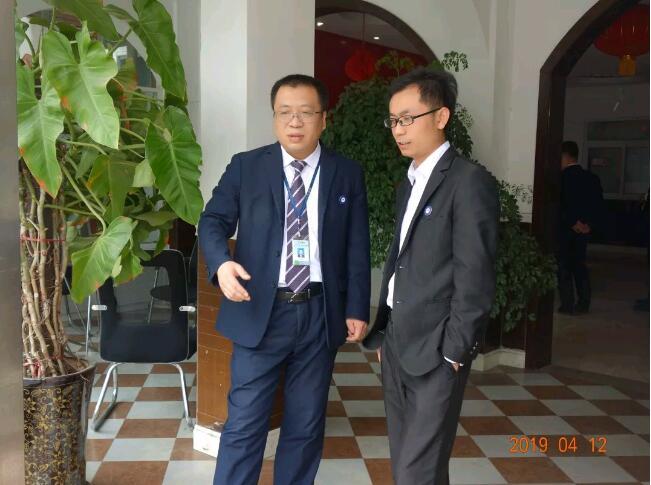 北大青鸟总部闫发军老师与我校教学副校长王广南老师