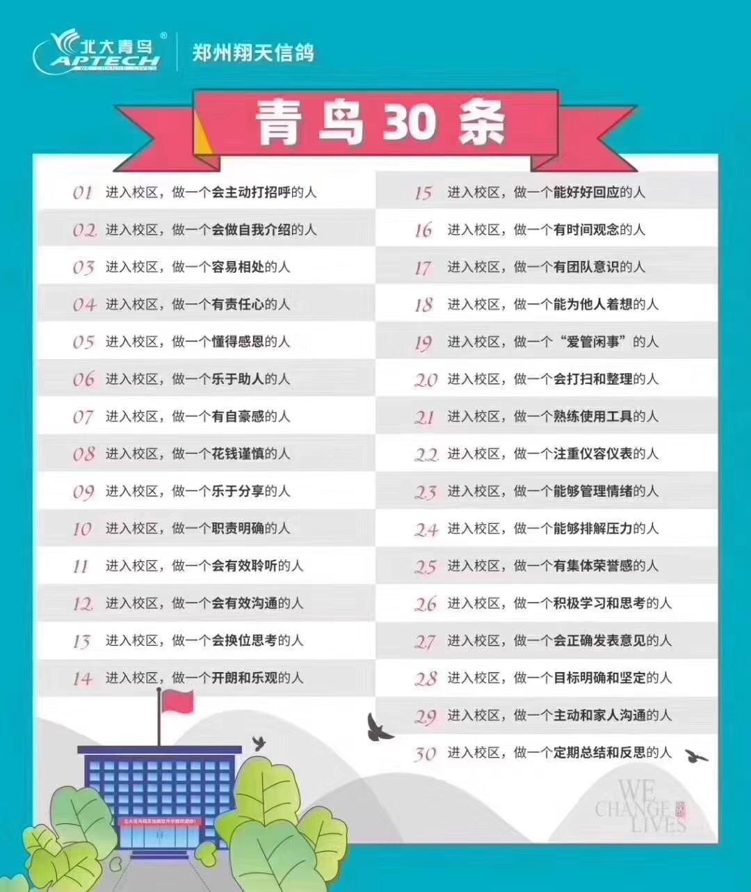 郑州北大青鸟翔天信鸽校区一家专注河南职业IT教育14年的学校