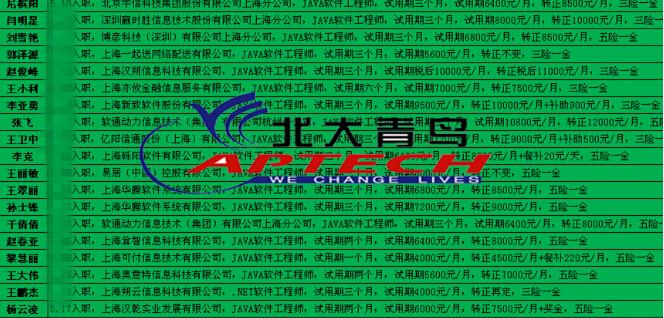 郑州北大青鸟就业