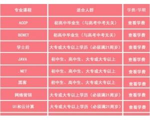 郑州北大青鸟学费一览表
